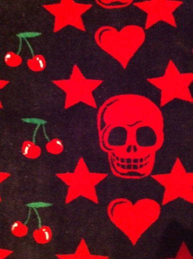 Toalla Cherry and skulls